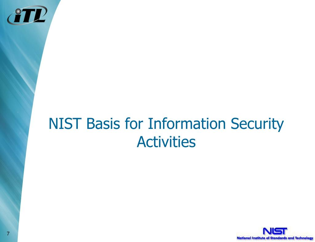 NIST Basis for Information Security Activities