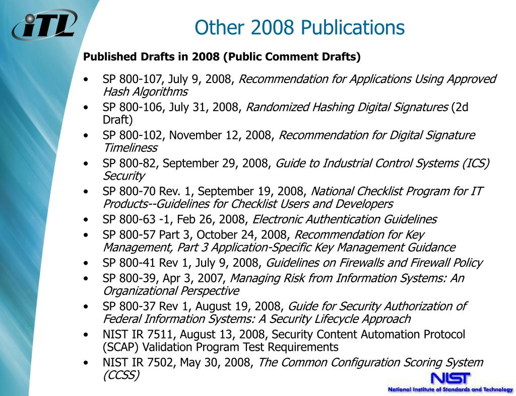Other 2008 Publications
