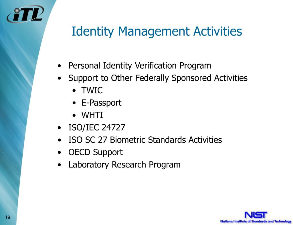 Identity Management Activities