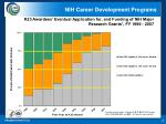 k23 awardees eventual application for and funding of nih major research grants fy 1999 2007