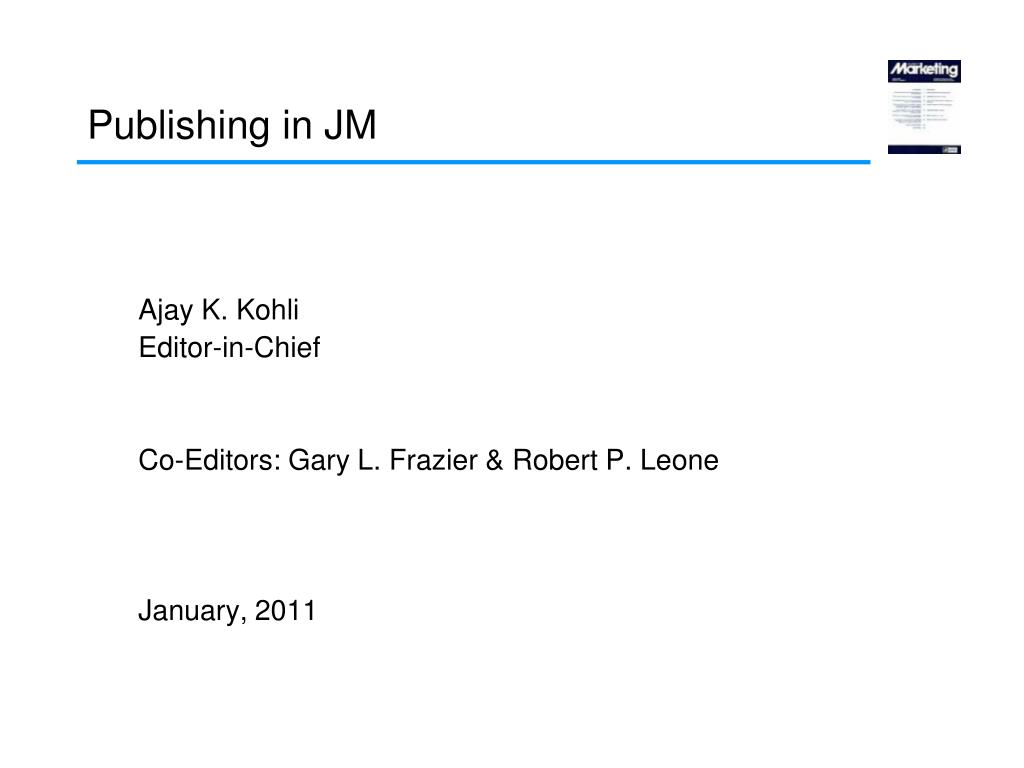 publishing in jm l.