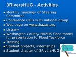 3rivershug activities