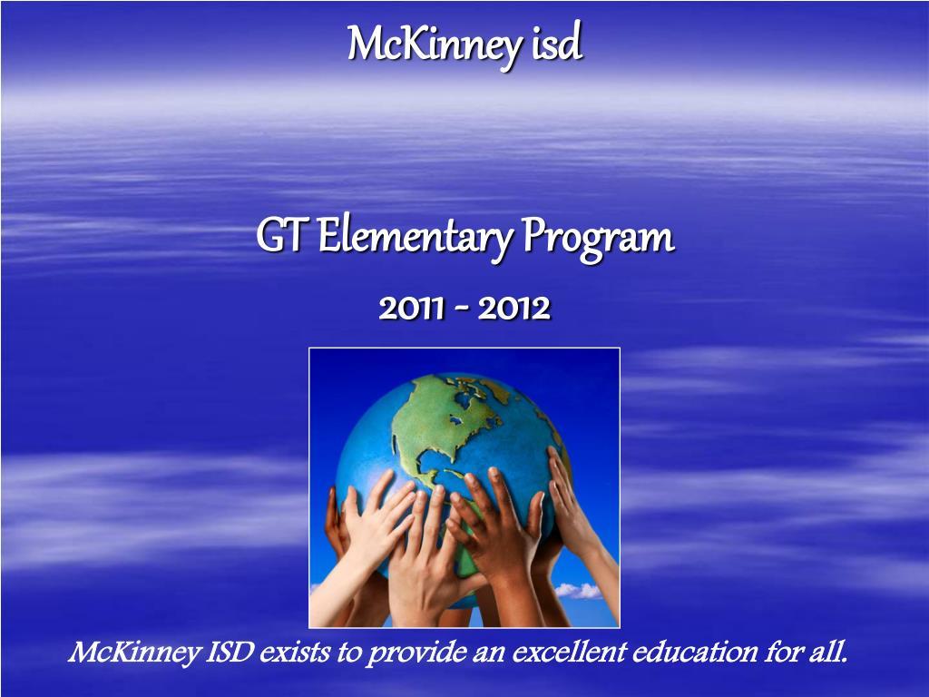 mckinney isd gt elementary program 2011 2012 l.