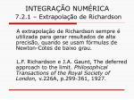 integra o num rica 7 2 1 extrapola o de richardson