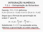 integra o num rica 7 2 1 extrapola o de richardson13