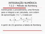 integra o num rica 7 2 2 m todo de romberg24