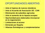 oportunidades abiertas