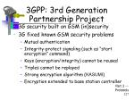 3gpp 3rd generation partnership project