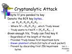 cryptanalytic attack109