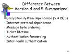 difference between version 4 and 5 summarized