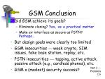 gsm conclusion