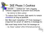 ike phase 1 cookies