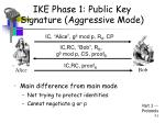 ike phase 1 public key signature aggressive mode