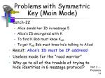 problems with symmetric key main mode