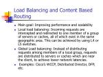 load balancing and content based routing
