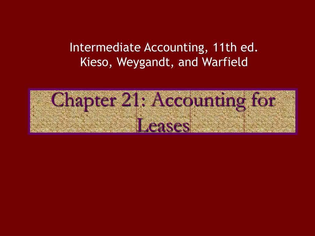 chapter 21 accounting for leases l.