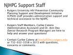njhpg support staff