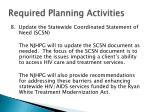 required planning activities25
