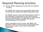 required planning activities27