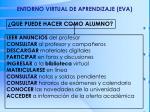 entorno virtual de aprendizaje eva