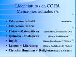 licenciaturas en cc ed menciones actuales 7