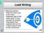 lead writing
