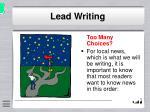 lead writing10