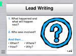 lead writing11