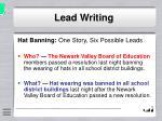 lead writing7