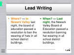 lead writing8