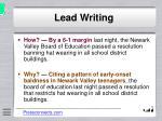 lead writing9