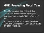 moe preceding fiscal year