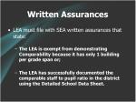 written assurances