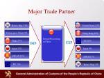 major trade partner