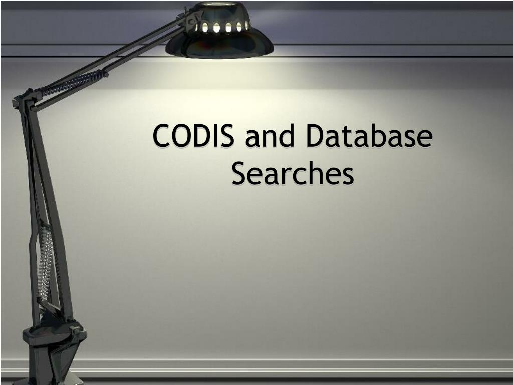 codis and database searches l.