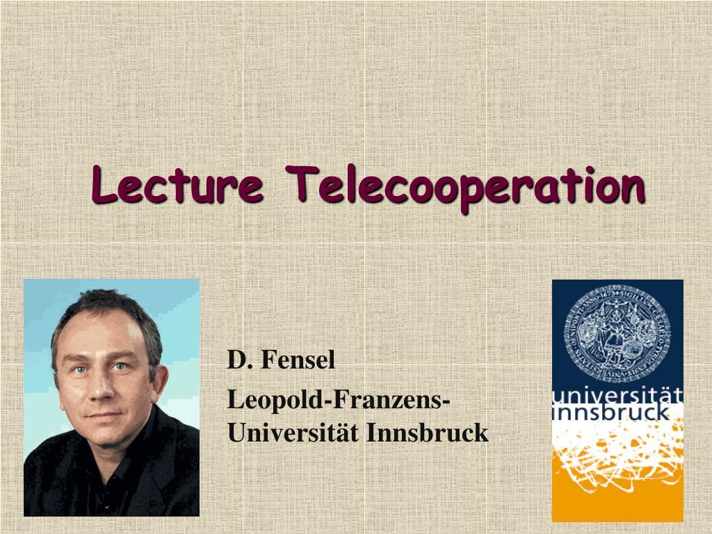lecture telecooperation l.