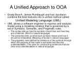 a unified approach to ooa