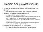 domain analysis activities 2