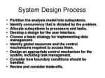 system design process