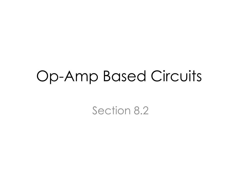 op amp based circuits l.