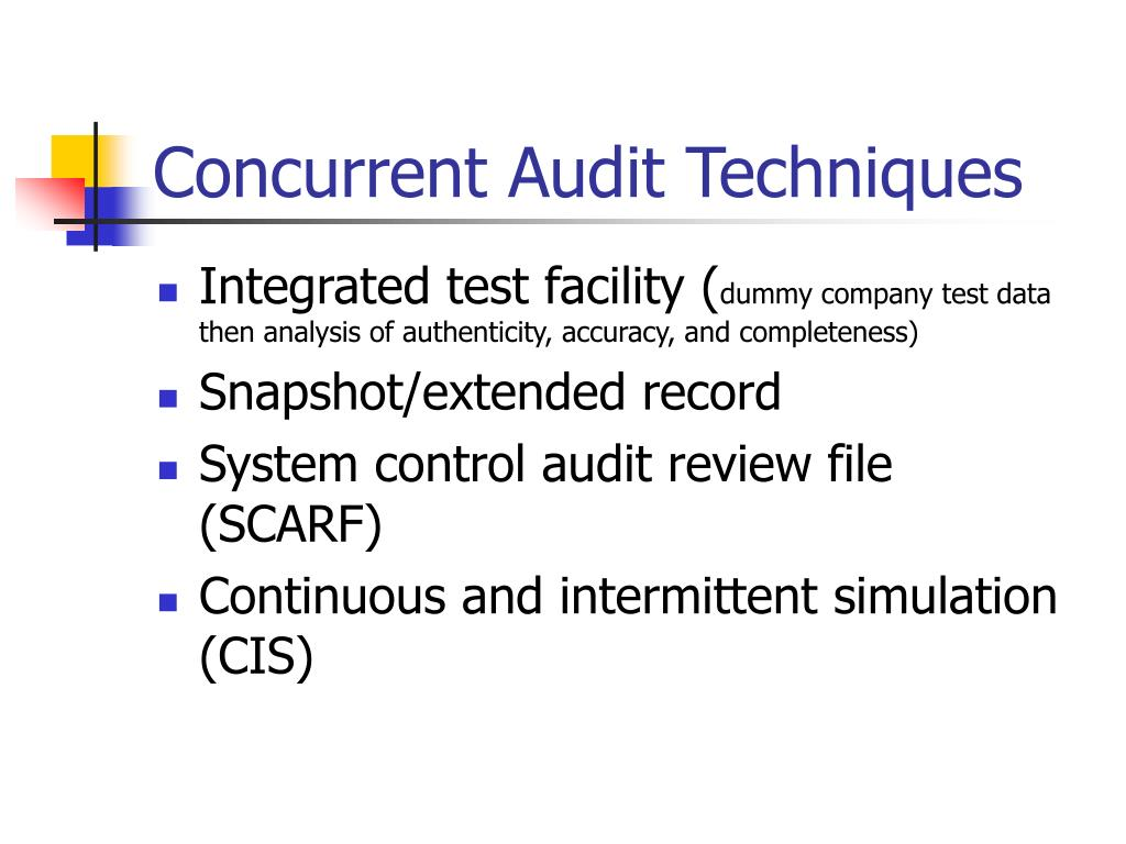what is the meaning of concurrent audit