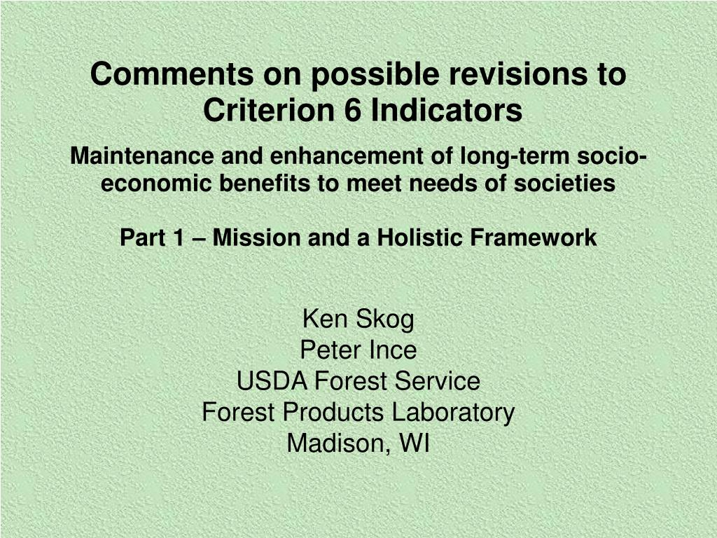 ken skog peter ince usda forest service forest products laboratory madison wi l.