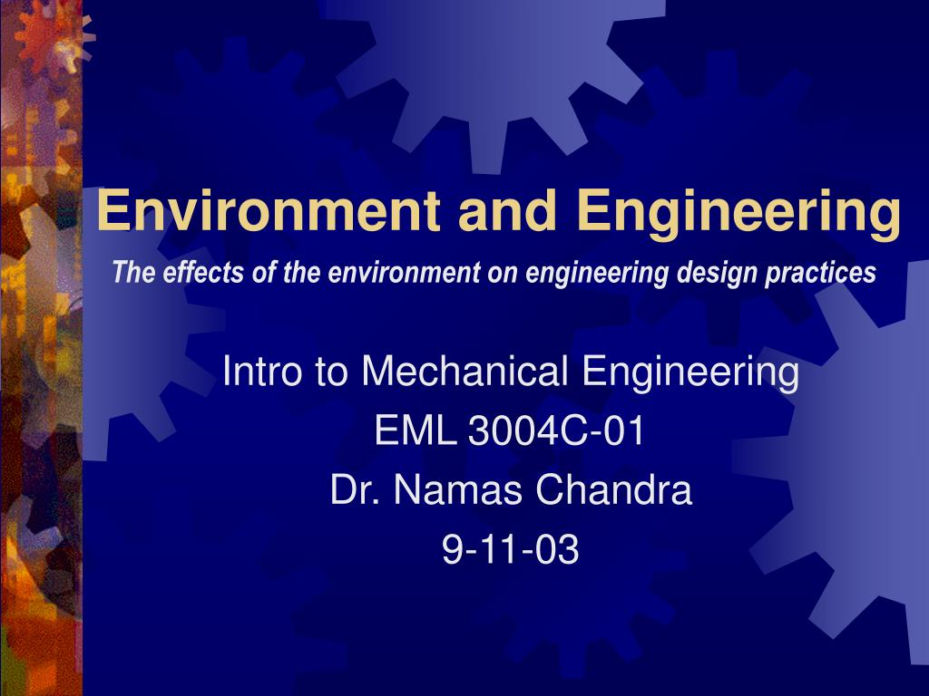 environment and engineering l.