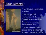 public disaster