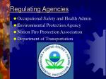regulating agencies