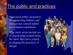 the public and practices
