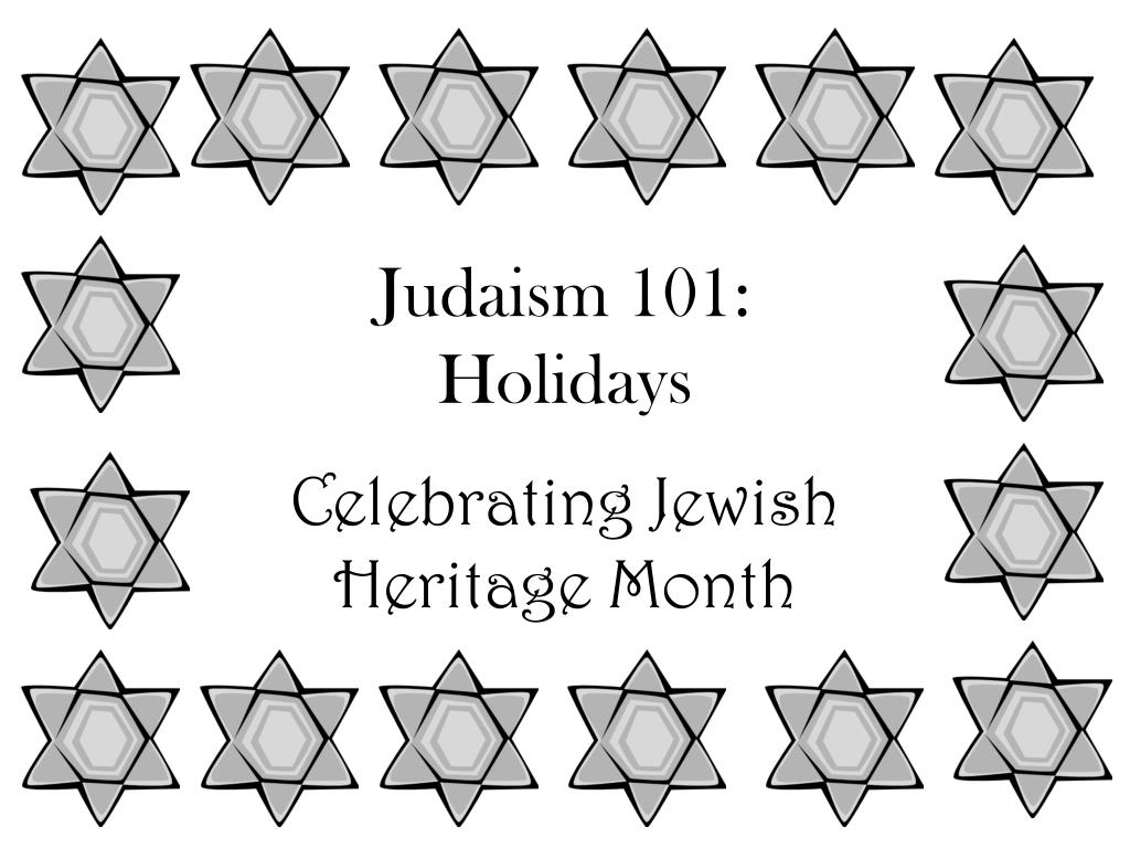 judaism 101 holidays l.