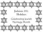 judaism 101 holidays