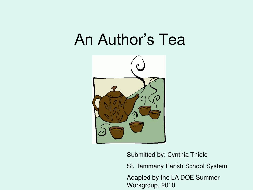 an author s tea l.