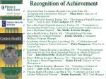 recognition of achievement